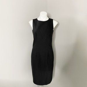 Ann Taylor Black Knee Length Shift Dress